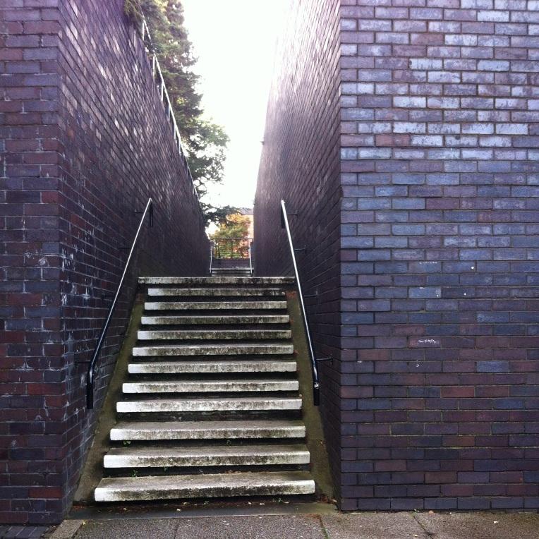 Anak tangga seperti ini banyak tersebar di kampus, maklum jalannya bukan rata melainkan naik turun